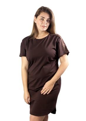 03-060 Ночная сорочка из хлопка Marsana Шоколад
