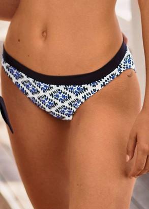 8726 Женские плавки-бикини Ebby Anita Белый с синим