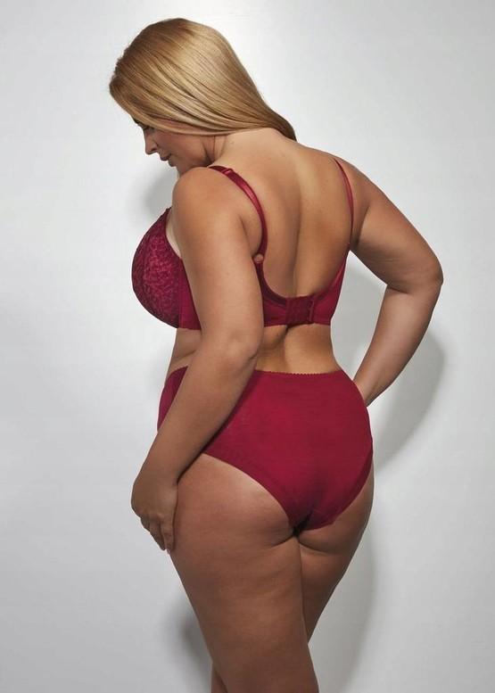 1214 Бюстгальтер больших размеров с мягкой чашкой Kris Line Betty Вишня вид сзади