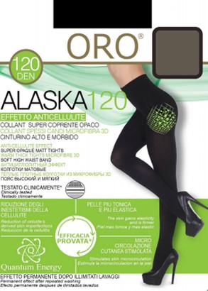 120 Жіночі колготи Alaska Oro 120 den Сірий серпанок