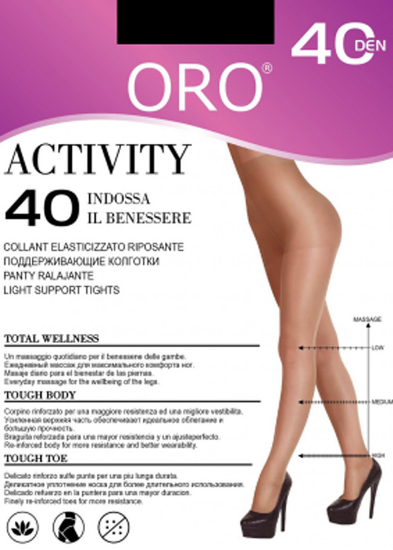 40 Жіночі колготи Activity Oro 40 den Чорний