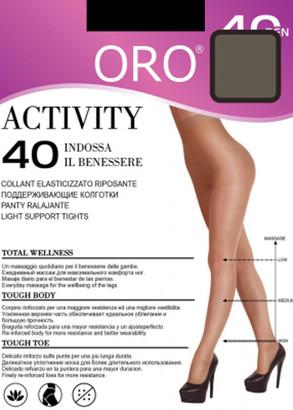 40 Жіночі колготи Activity Oro 40 den Сірий серпанок