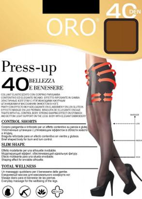 40 Женские колготы Press up Oro 40 den Бронзовый