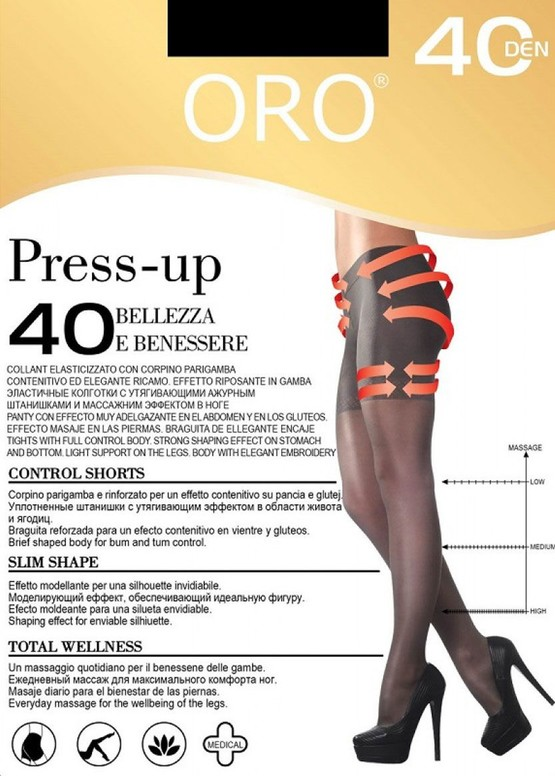 40 Женские колготы Press up Oro 40 den