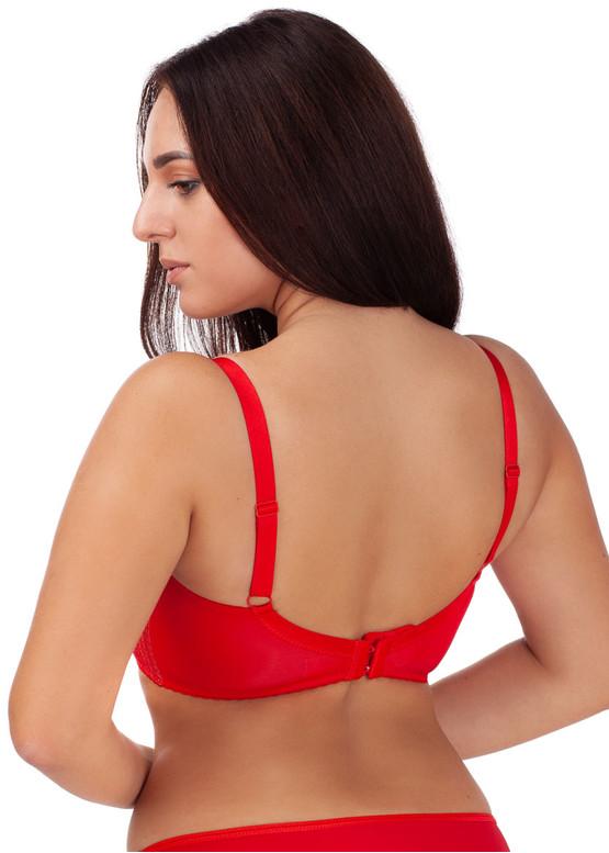 323 Полууплотненный бюстгальтер для большой груди VENA Красный с бежевым вид сзади