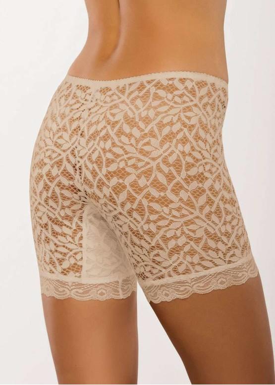 028 Жіночі мереживні панталони великих розмірів Afina Бежевий