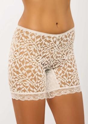 028 Женские кружевные панталоны больших размеров Afina Шампань