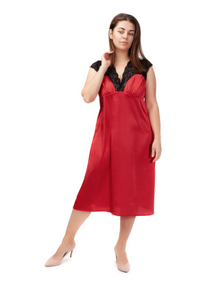 2033 Шелковая ночная сорочка с халатом Sharm TM Easy Light Красный