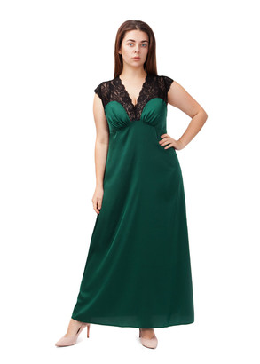 2034 Шелковая ночная сорочка с халатом Sharm TM Easy Light Зеленый