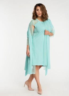 2043 Ночная сорочка из хлопка с халатом Temis Easy Light Ментол