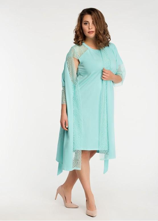 2043 Нічна сорочка з бавовни з халатом Temis TM Easy Light Ментол