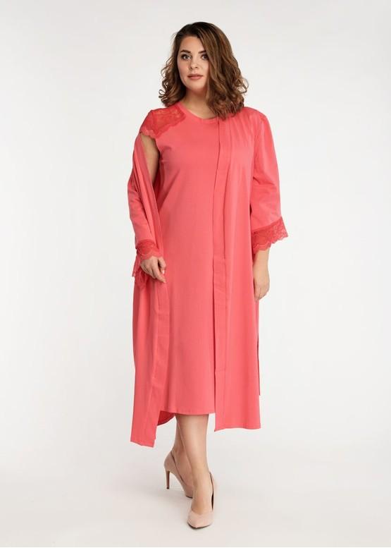 2041 Нічна сорочка з бавовни з халатом Bleise TM Easy Light Корал