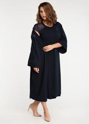 2042 Ночная сорочка из хлопка с халатом Liatris Easy Light Синий