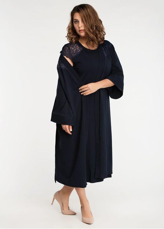 2042 Ночная сорочка из хлопка с халатом Liatris TM Easy Light Синий