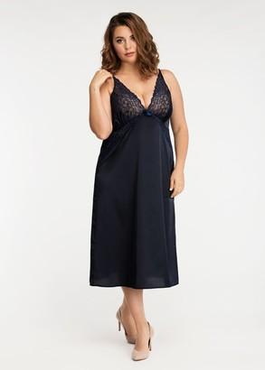 2031/2 Женская ночная сорочка из шелка Simona ТМ Easy Light Синий