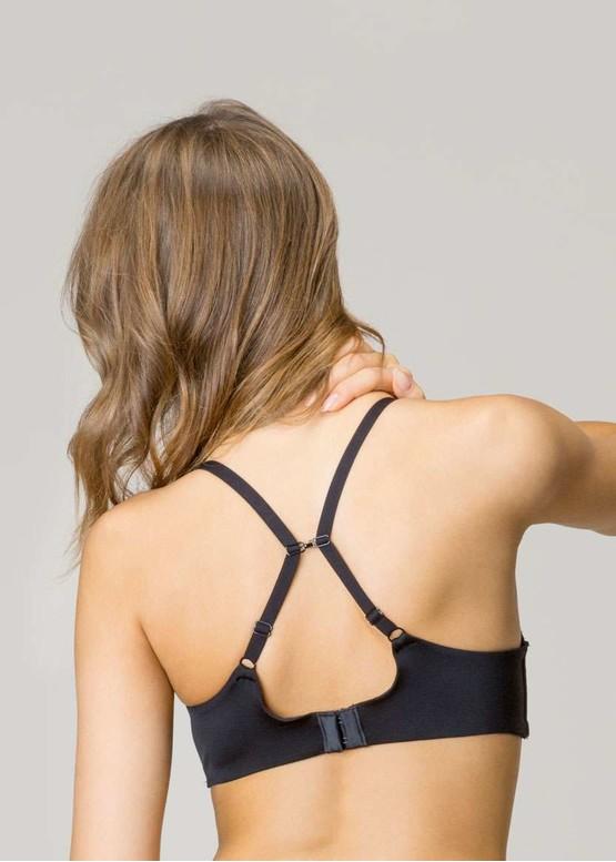 1/0341 Уплотненный бюстгальтер со съемными косточками Gisela Черный вид сзади