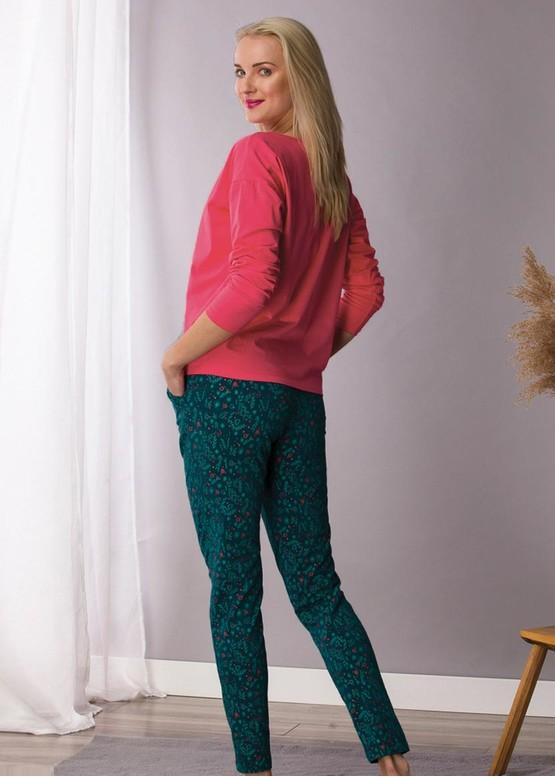708 Женская байковая пижама: лонгслив и штаны Key Цветной
