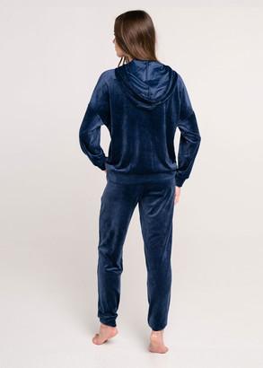 100014 Домашний велюровый костюм Naviale Сапфир