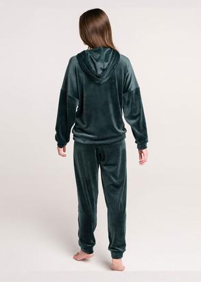 100014 Домашний велюровый костюм Naviale Изумруд