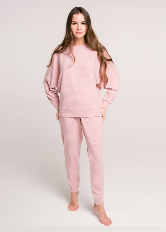 100015 Домашний костюм из вискозы Naviale Розовый-меланж