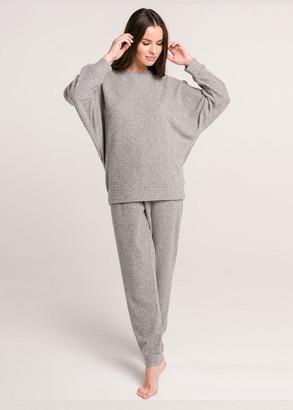 100015 Домашний костюм из вискозы Naviale Серый-меланж