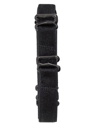 2185 Удлиненные тканевые бретели для бюстгальтера Kleo Черный