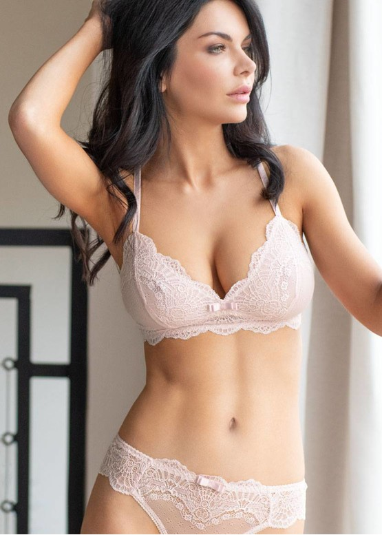 2889 Трусики-бразилианы большого размера Melissa Kleo розовый лепесток