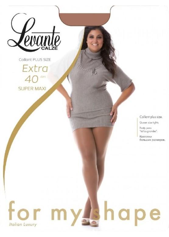 40 Женские колготы большого размера Levante Extra Super Maxi 40 Den (6-7XL)