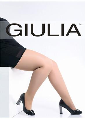 """200/1 Жіночі бавовняні колготи великих розмірів ТМ """" Giulia Molly 200 Den №1 (до 3XL) Бежевий"""