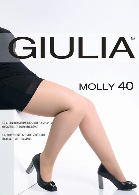 40 Женские колготы больших размеров Giulia Molly 40 Den (до 4XL)