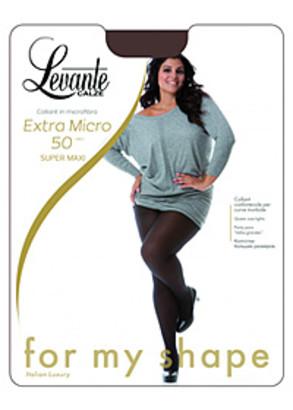 50 Женские колготы большого размера Levante Extra Super Maxi 50 Den (до 7XL)