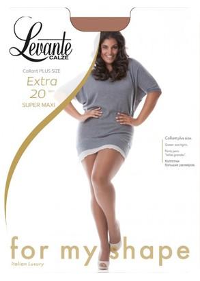 20 Женские колготы большого размера Levante Extra Super Maxi 20 Den (5-6XL)