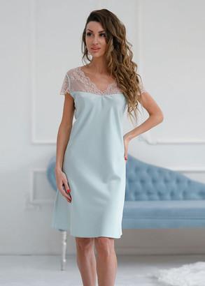 1226/1 Шелковая ночная сорочка Aguamarine Komilfo Лазурь