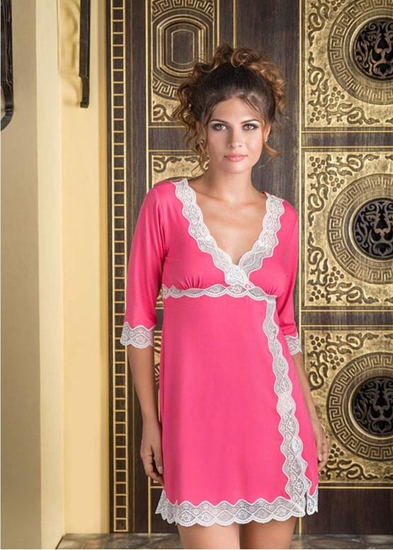 1244 Ночная сорочка из вискозы Tamara ТМ Komilfo Коралл