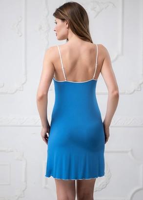 1350 Ночная сорочка из вискозы Viola ТМ Komilfo Синий
