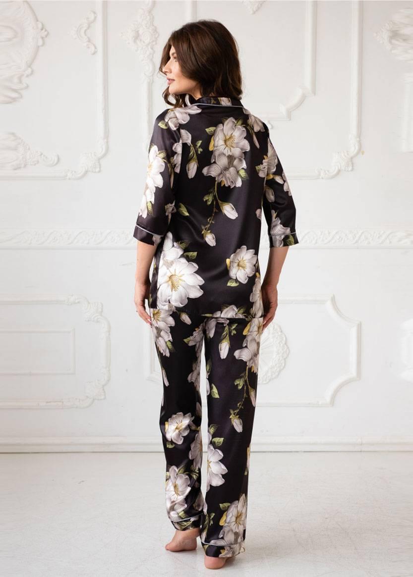 3071 Блузон и брюки Rebecca TM Komilfo Черный спинка