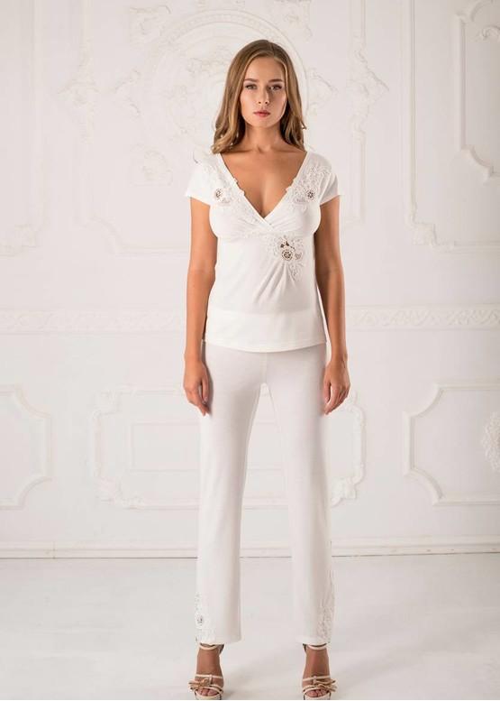 3105 Женская пижама с брюками из вискозы Inga ТM Komilfo Шампань