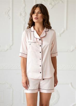 4078 Шелковая пижама блузон и шорты Brussel Komilfo
