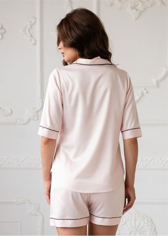 4078 Шелковая пижама блузон и шорты Brussel TM Komilfo