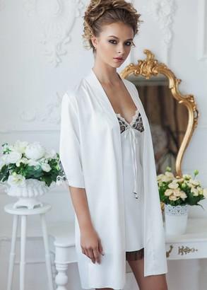 2076/1 Ночная сорочка с халатом  Milan Komilfo Шампань