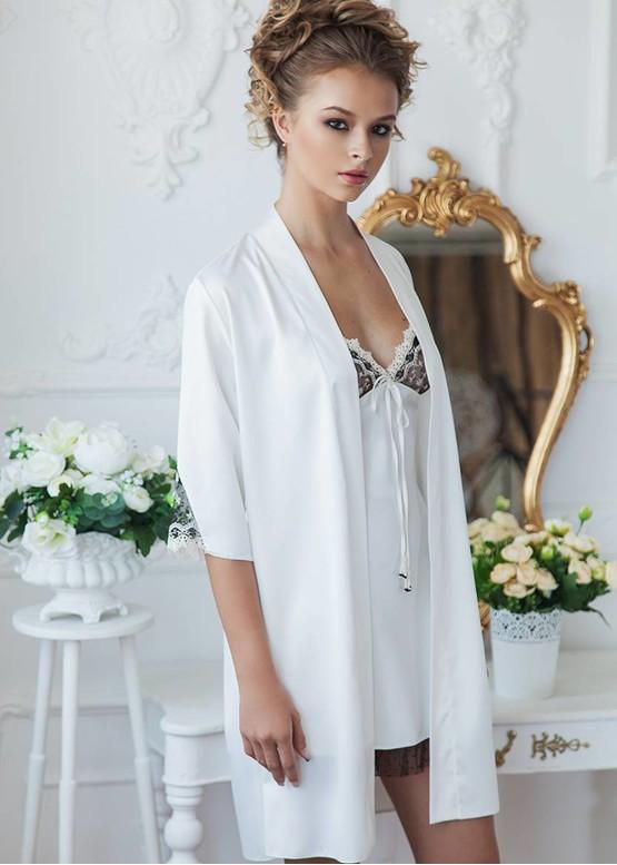 2076/1 Нічна сорочка з халатом Milan TM Komilfo Шампань