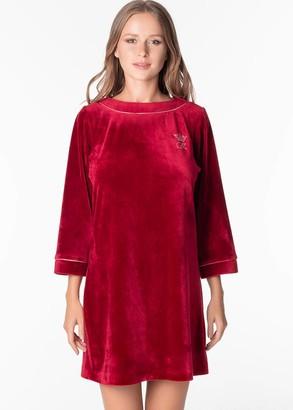 1309 Велюровое платье Ottawa Komilfo Вино