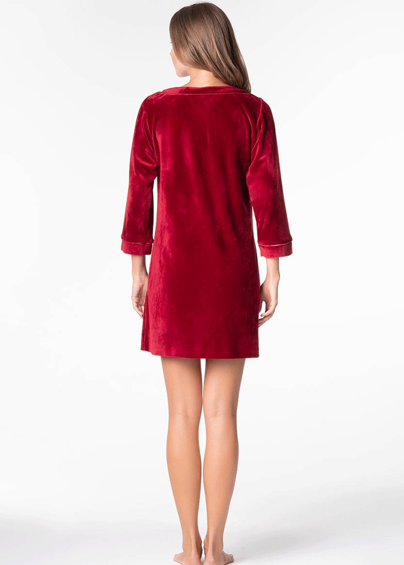 1309 Велюровое платье Ottawa ТМ Komilfo Вино