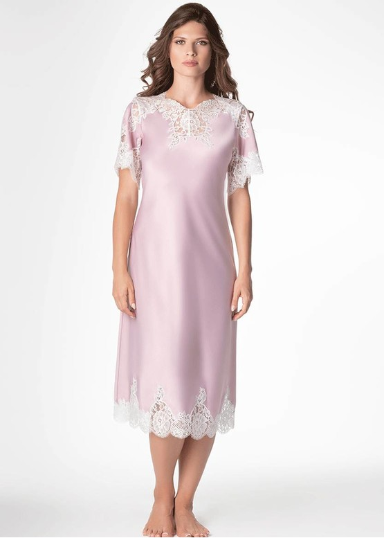 1286 Шелковая ночная сорочка Roxie TM Komilfo Сирень