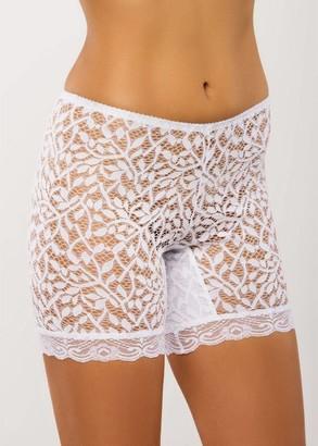 028 Жіночі мереживні панталони великих розмірів Afina Білий