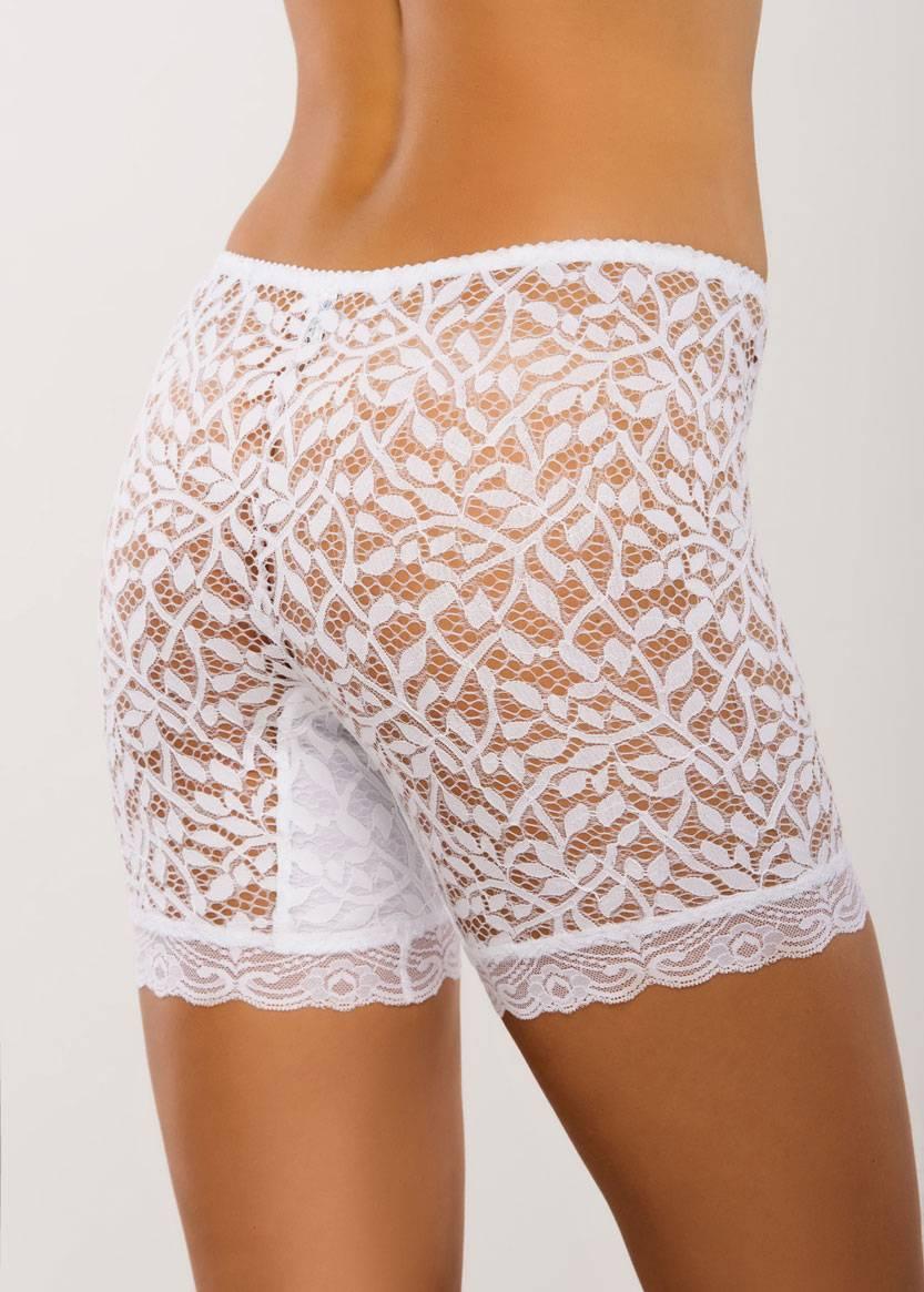 028 Женские кружевные панталоны больших размеров Afina Белый