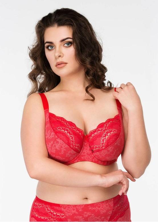 1030 Бюстгальтер больших размеров Lana Красный