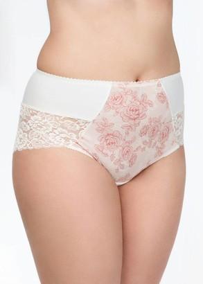 310 Женские трусы-бразилианы высокой посадки Lana Иллюзия розы