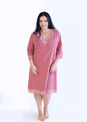 03-034 Ночная сорочка из хлопка Marsana Пурпурно-розовый