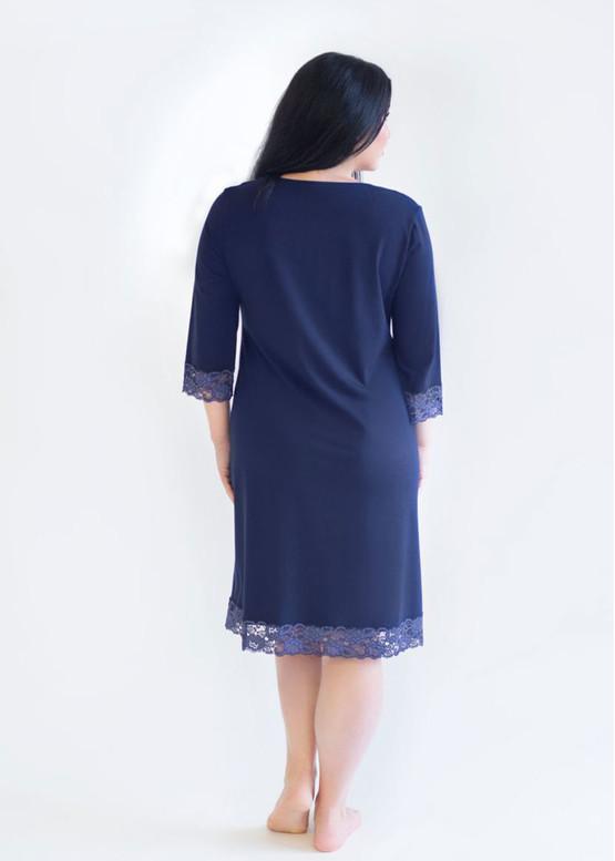 03-034 Ночная сорочка из хлопка Marsana Сапфир вид сзади